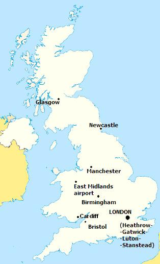 united kingdom map here are the united kingdom cities with direct flight connections to kos